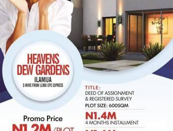 Estate Land, 7minutes Away From Pan Atlantic University  Close to Proposed Airport, Eleko, Ibeju Lekki, Lagos, Residential Land for Sale