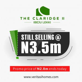 The Claridge 2, 20 Mins Drive From Dangote, Ibeju Lekki, Lagos, Mixed-use Land for Sale