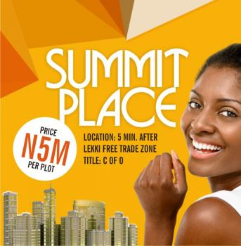 Summit Place, 5 Mins Drive From Lekki Trade Zone, Ibeju Lekki, Lagos, Mixed-use Land for Sale
