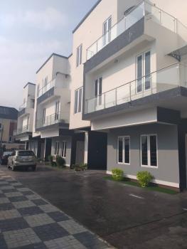 Newly Built 5 Bedroom Town Hall Duplex Houses with Bq, 2nd Tollgate By Chevron, Lekki Expressway, Lekki, Lagos, Terraced Duplex for Sale