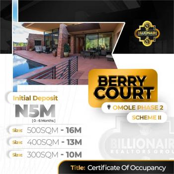 500sqm Estate Land, Berry Court, Omole Phase 2, Ikeja, Lagos, Residential Land for Sale