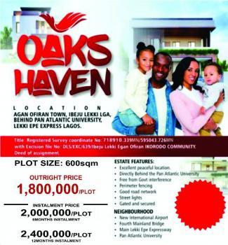 600 Sqm Land - Oak Haven Estate, Behind Pan African University, Ibeju Lekki, Lagos, Residential Land for Sale