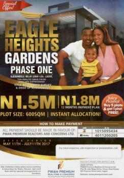 Estate Land, Close to Pan Atlantic University, Ibeju Lekki, Lagos, Residential Land for Sale