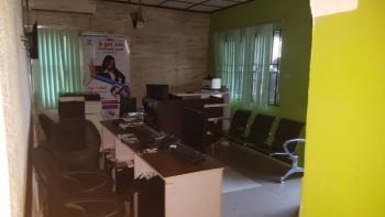 1 Serviced Room Office in a 3 Bedroom Flat Shared Office, 12 Seidu Ajibowu Street Off Toyin Street, Allen, Ikeja, Lagos, Office Space for Rent