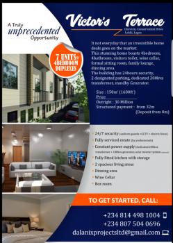 Fantastic 4 Bedroom Terrace Duplex @ Chevron/lekki Conservation Park Drive., Plot Xxvi, Chevron/lekki Conservation Drive, Lekki, Lagos, Terraced Duplex for Sale