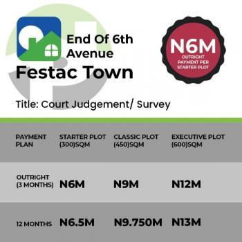 Land for Sale in Festac, 6th Avenue, Festac, Isolo, Lagos, Residential Land for Sale