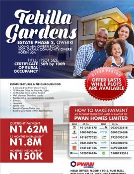 Estate Land with C of O, Ngo Okpala, New Owerri, Owerri, Imo, Mixed-use Land for Sale