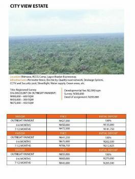 Land for Sale in City View Estate Shimawa Lagos-ibadan Expressway Ogun State, Along Lagos Ibadan-express Way, Simawa, Ogun, Residential Land for Sale