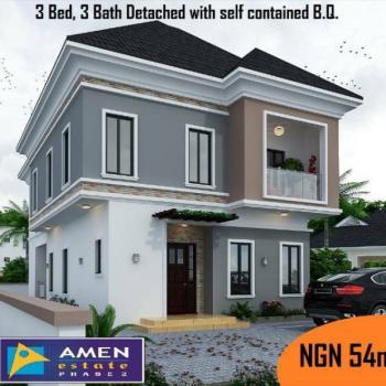Luxury 3 Bedrooms 3 Bathroom Fully Detached Duplex, Prestigious Amen Estate, Eleko, Ibeju Lekki, Lagos, Detached Duplex for Sale