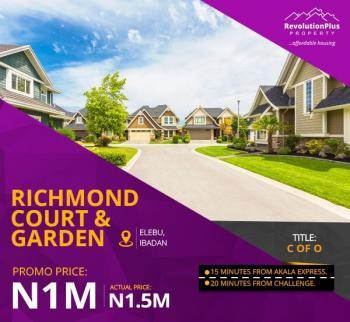 Richmond Courts and Gardens Land with  C of O, Elebu Town, Ido, Oyo, Residential Land for Sale