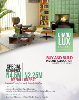 Grand Lux Estate. an Unregrettable Investment, Located in an Awesome Environment with Breath-taken Facilities at Low Cost., Grand Lux Estate, Bule Pan Sapati, Lekki Before Eleko, Lekki Phase 2, Lekki, Lagos, Residential Land for Sale
