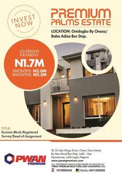 Estate Land Dry, Close to Pan Atlantic University, Onosa, Ibeju Lekki, Lagos, Residential Land for Sale