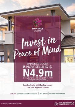 Estate Land Buy , Build, Close to Beechwood Estate, Bogije, Ibeju Lekki, Lagos, Residential Land for Sale