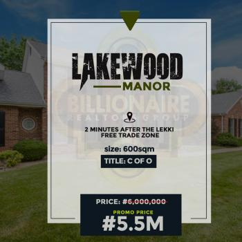 Lakewood Manor, 2 Minutes From The Lekki Free Trade Zone, Lekki Free Trade Zone, Lekki, Lagos, Mixed-use Land for Sale