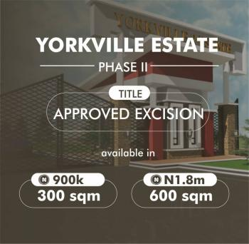 Yorkville Estate 2 Is The Most Affordable Property on This Axis with Structurally Well Laid Out and Good Architectural Design., Imedu Ibeju Lekki, Ibeju Lekki, Lagos, Residential Land for Sale