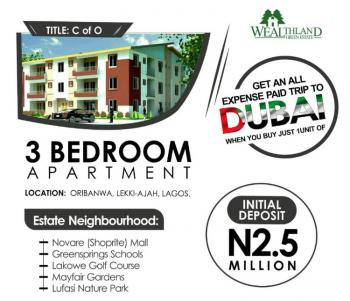 Luxurious and Affordable 3bedroom Apartment in a Secured Estate, Oribanwa, Ibeju Lekki, Lagos, Block of Flats for Sale