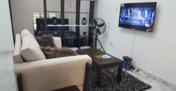 Fully Serviced & Furnished Studio with Balcony in a Secured Estate, Off Chevron Drive, The Alternative Route, Lekki, Lagos, Mini Flat Short Let