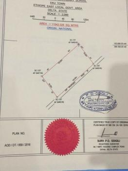 Massive Three (3) Acres of Land and One Plot, By Eku Girls Secondary School, Ethiope East, Delta, Residential Land for Sale