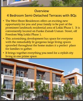 Off Plan 4 Bedroom Terrace, Lekki Phase 1, Lekki, Lagos, Terraced Duplex for Sale