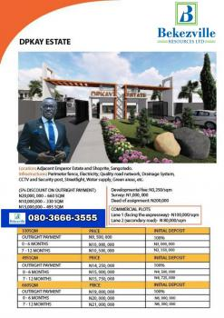 Land, Dpkay Estate, Along Lekki-epe Expressway, Sangotedo, Ajah, Lagos, Mixed-use Land for Sale