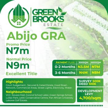Green Brooks Estate with Good Title, : Aabijo Gra ( 10 Minutes Drive From Ajah), Abijo, Lekki, Lagos, Mixed-use Land for Sale