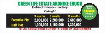 Land, Akonike, New Nssuka Road, Enugu, Enugu, Residential Land for Sale