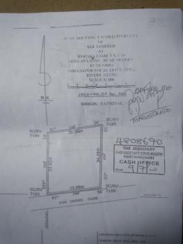 2 Plots of Land for Sale at Rumuogba Aba Road Portharcourt., Rumuogba, Port Harcourt, Rivers, Mixed-use Land for Sale