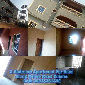 2 Bedroom Flat, Upper Rehab, Emene, Enugu, Enugu, Flat for Rent