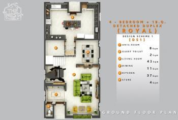 Royal - 4 Bedroom + 1 Bq Fully Detached Duplex, Logic Palm Road, Abijo, Lekki, Lagos, Detached Duplex for Sale