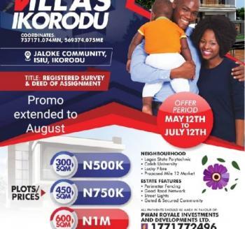 The Excel Villas, Isiu,ikorodu, Odogunyan, Ikorodu, Lagos, Residential Land for Sale
