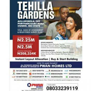 Land, Tehilla Gardens Avu-oforola Off Portharcourt Road, World Bank, Owerri, Imo, Residential Land for Sale