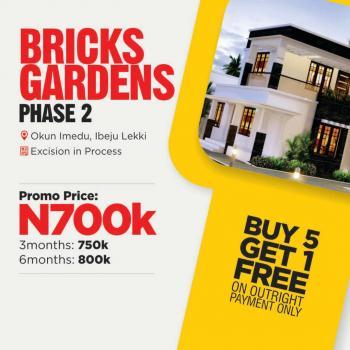 Bricks Gardens Phase 2 Land, Imedu Road, Akodo Ise, Ibeju Lekki, Lagos, Mixed-use Land for Sale