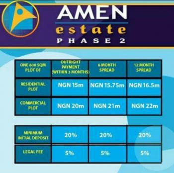 Amen Estate  Land, Eleko, Ibeju Lekki, Lagos, Mixed-use Land for Sale