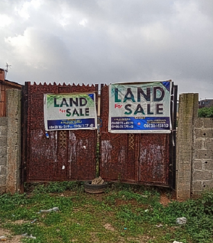 4 Plots of Land at with 3 Bedroom Flat at Set Back, Olorunmbe Area, Ipaja, Lagos, Mixed-use Land for Sale