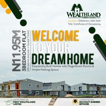 3 Bedroom Flat, Wealthland Green Estate, Oribanwa, Lakowe, Ibeju Lekki, Lagos, Block of Flats for Sale