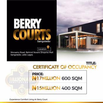 Berry Court Behind Novare Mall, Sangotedo, Behind The Novare Mall Shoprite Sangotedo, Sangotedo, Ajah, Lagos, Residential Land for Sale