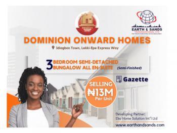 3 Bedrooms Semi Detached Bungalow, Opposite Fara Park Estate, Sangotedo, Ajah, Lagos, Semi-detached Bungalow for Sale