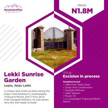 Lekki Sunrise Garden ( Dry Land) with Flexible Payment Plan, Lepia Town, Iberekodo, Ibeju Lekki, Lagos, Residential Land for Sale