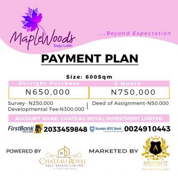 Maplewoods Estate, Igbogun Road, Folu Ise, Ibeju Lekki, Lagos, Mixed-use Land for Sale