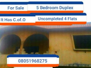 5 Bedroom Duplex with 4 Flats, Giwa-amu G.r.a Airport Road, Benin, Oredo, Edo, Detached Duplex for Sale