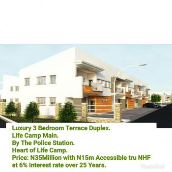 Simple Luxury 3 Bedrooms Terraced Duplex, Life Camp, Abuja, Terraced Duplex for Sale