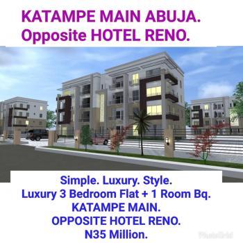 Luxury 3 Bedroom Flat + 1 Room Bq, Opposite Hotel Reno., Katampe (main), Katampe, Abuja, Block of Flats for Sale