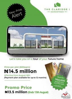 The Claridge 1 Land, Sangotedo, Ajah, Lagos, Mixed-use Land for Sale