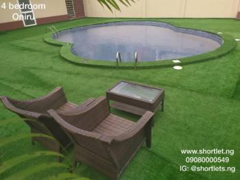 Party House - Fully Furnished 4 Bedrooms Terrace House with 2 Rooms B.q and Swimming  Pool, Oniru, Victoria Island (vi), Lagos, Terraced Duplex Short Let