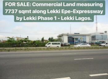 Fully Fenced Commercial Land Measuring 7737 Square Meters, Lekki Phase 1, Lekki, Lagos, Commercial Land for Sale