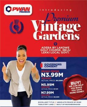 Vintage Gardens Estate, Adeba Lakowe Golf Course, Lakowe, Ibeju Lekki, Lagos, Residential Land for Sale