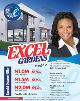 Excel Gardens Phase 2, Opposite La Campagne Tropicana, Ikegun, Ibeju Lekki, Lagos, Residential Land for Sale