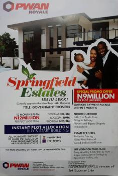 Springfield Estate, Opposite The New Shoprite Eleko, Ibeju Lekki, Lagos, Residential Land for Sale