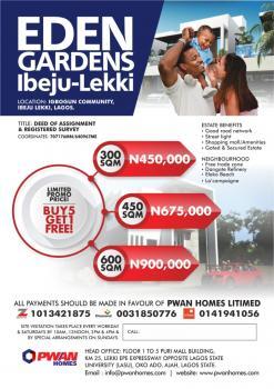 Esate Land Dry, Close to Pan Atlantic University and Dangote Refinery, Eleko, Ibeju Lekki, Lagos, Residential Land for Sale