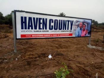 Affordable Estate Land. Dry, Ilamija Near Pan Atlantic University and 2 Minutes From Major Express, Ibeju Lekki, Lagos, Residential Land for Sale
